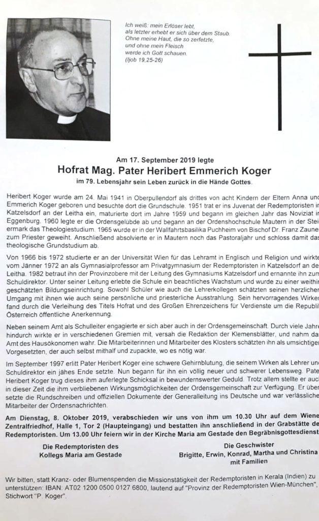 Parte Pater Heribert Koger