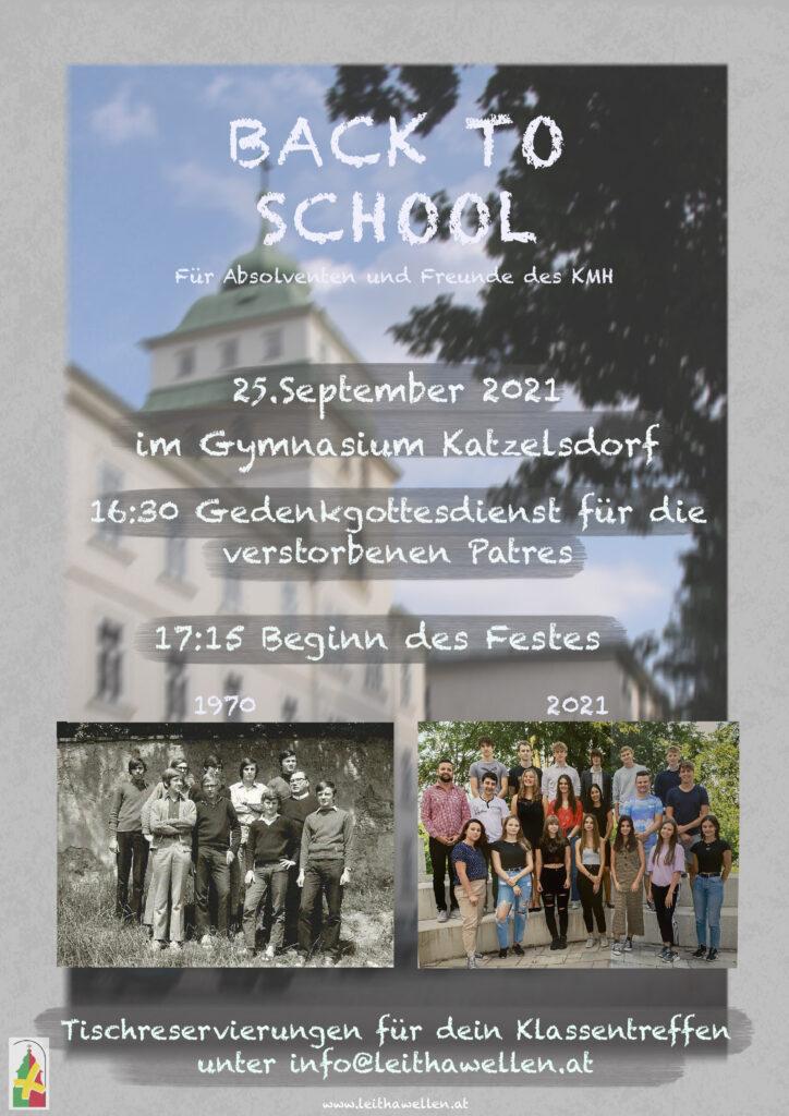 Flyer / Einladung: Back To School 2021